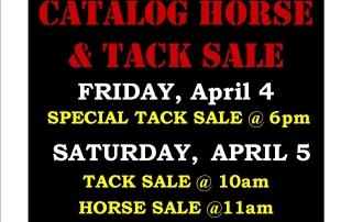 SPECIAL SPRING TACK + HORSE SALE – APRIL 4 & 5